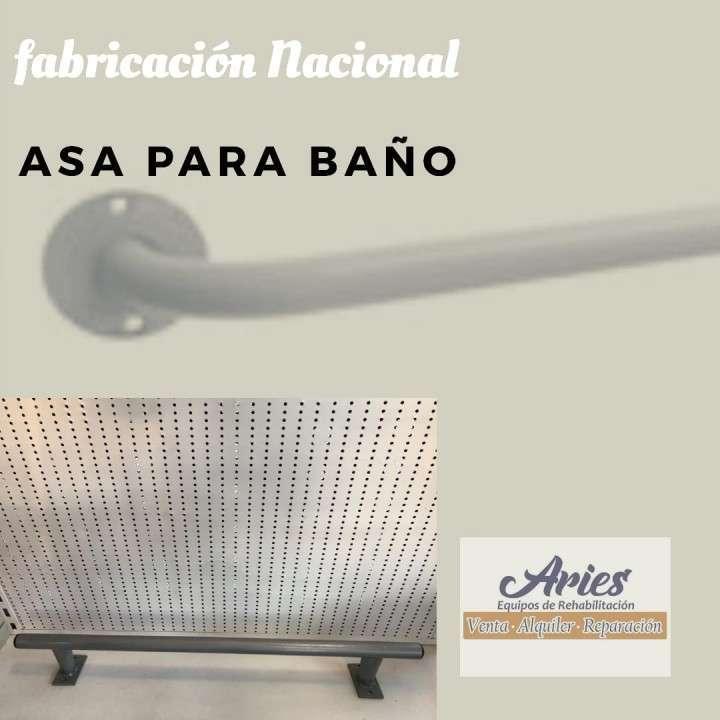 Asa para baño de hierro pintado fabricación nacional - 0