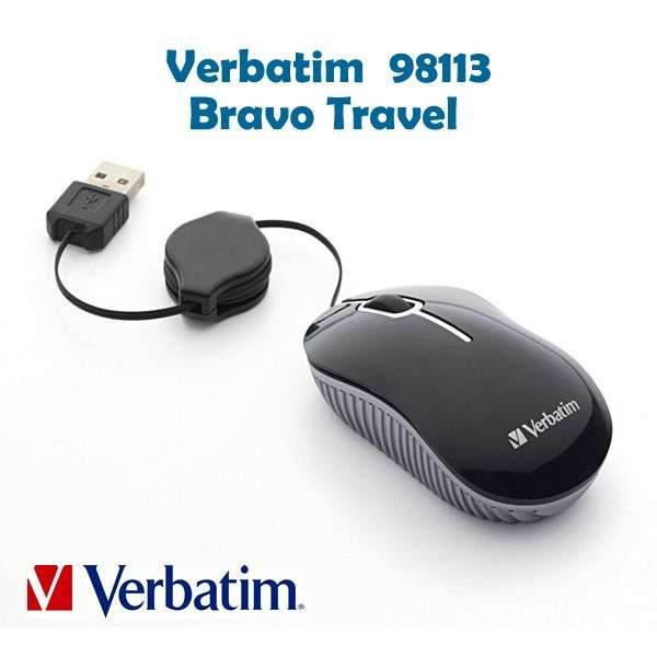 Mouse Verbatim Bravo Travel USB - 0