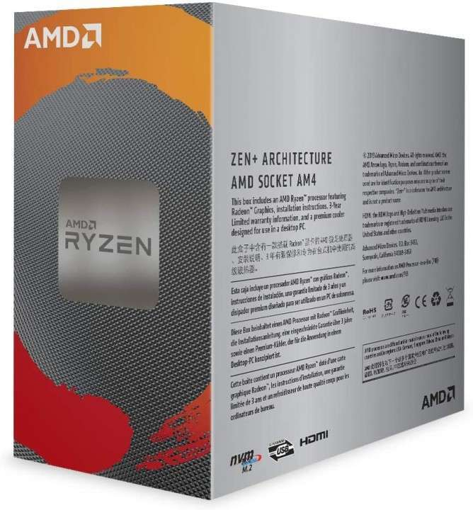 Procesador AMD AM4 Ryzen 3 3200G - 2