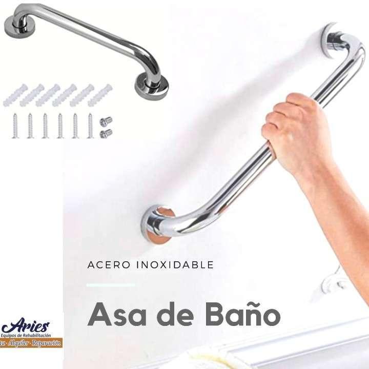 Asa de acero inoxidable para baño - 0