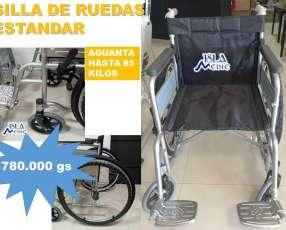 Silla de ruedas estandar soporta hasta 80 kilos