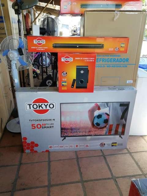 Tv Led tokyo 50 pulgadas ultra hd 4k + barra de sonido de regalo