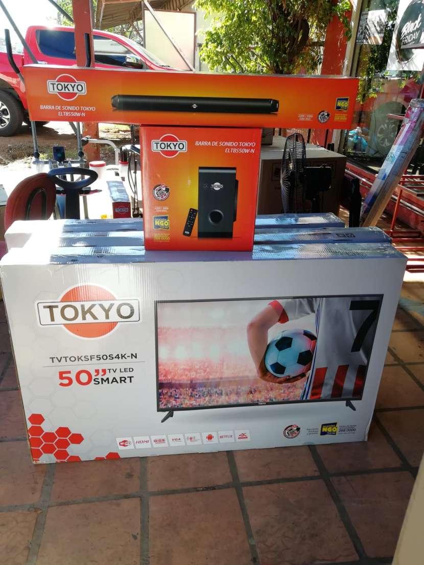 Tv Led tokyo 50 pulgadas ultra hd 4k + barra de sonido de regalo - 1