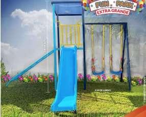 Parque infantil extra grande y tobogán de fibra de vidrio