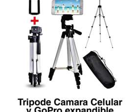 Tripode portátil +soporte de celular