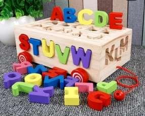 Caja de letras de maderas 26 piezas