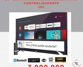 Smart tv led 4k JVC 50 pulgadas Chromecast voice control soporte