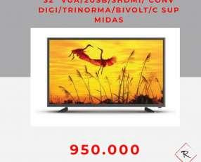 Tv Midas 32 pulgadas VGA 2 usb 3 hdmi digital trinorma