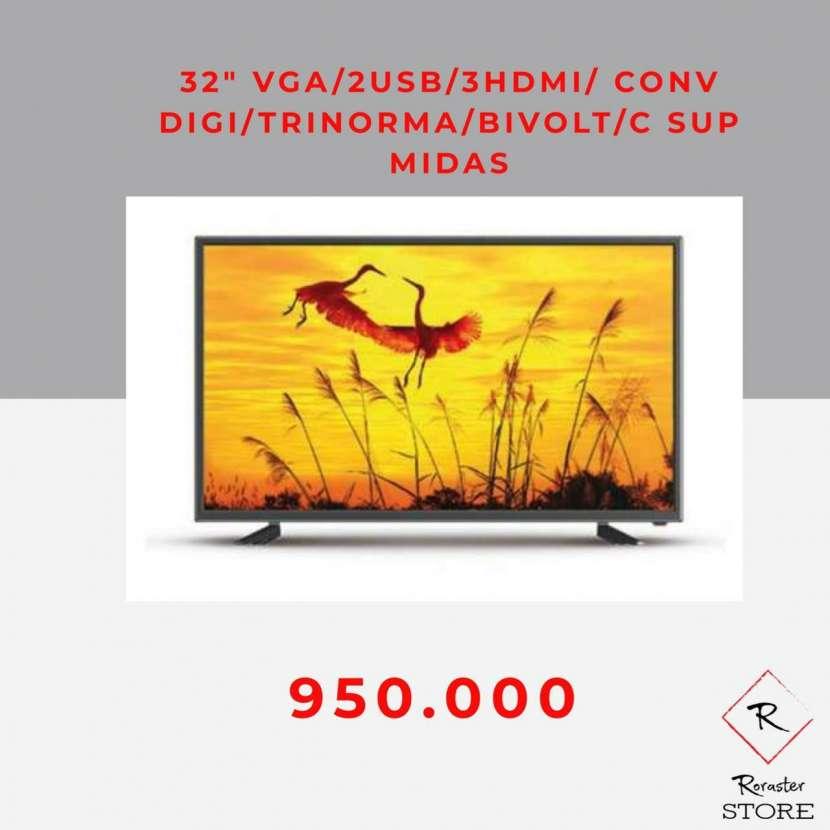 Tv Midas 32 pulgadas VGA 2 usb 3 hdmi digital trinorma - 0