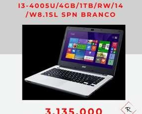 Notebook Acer ES 471-33RK 4 gb 1TB RW 14 pulgadas blanco