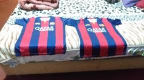 Camisetas del Barcelona talle p con la caja oficial