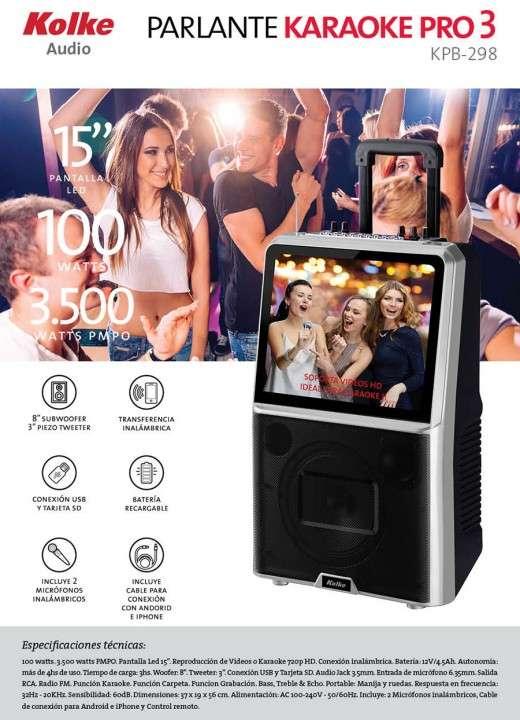 Parlante Kolke Pro-298 karaoke con pantalla 15 pulgadas - 1