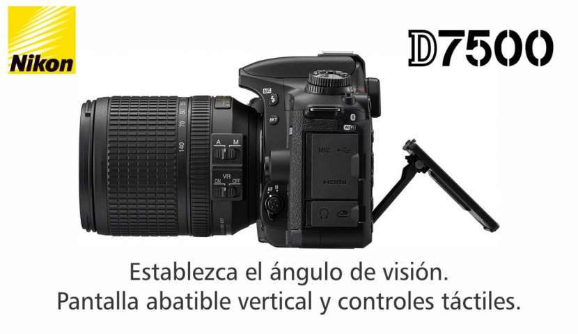 Cámara Nikon D7500 Kit 18-140mm - 0