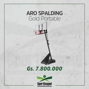Aro basket Spalding Gold Portable acrílico cerrar