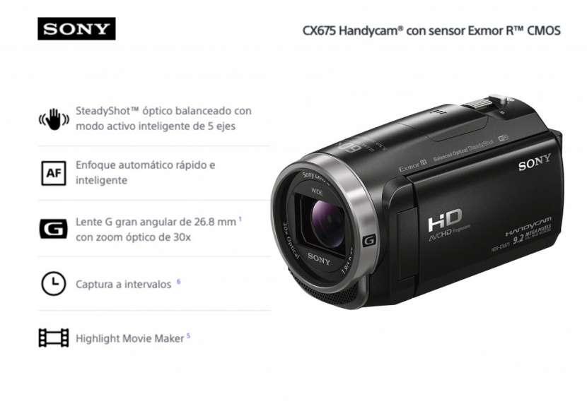 Filmadora Sony HDR-CX675 FHD - 0