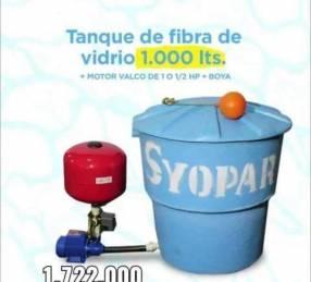 Tanque 1,000 lts + Motor 1 HP