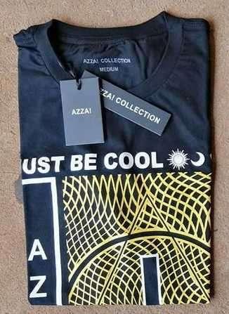 Remera azza collection masculino negro estampado talla M - 0