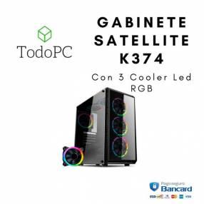 Gabinete Satellite K374 Con 3 Cooler Led RGB