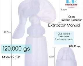 Extractor manual de leche materna