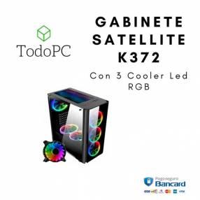 Gabinete Satellite K372 con 3 coolers Rgb+Controlador