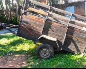 Carrito de madera para carga
