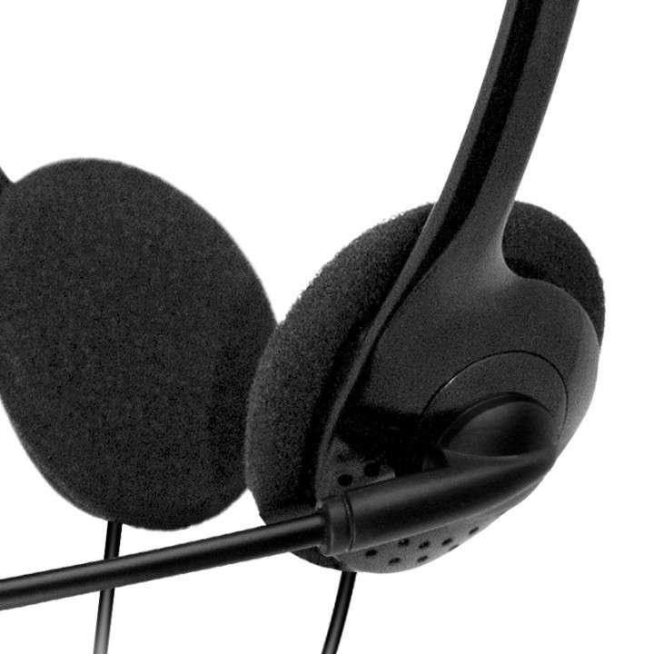 Auricular con micrófono Klip KSH-270 2 jack negro - 1
