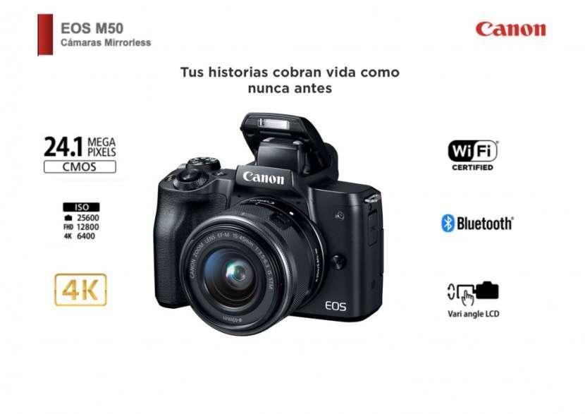 Cámara Canon M50 Kit 15-45mm - 0