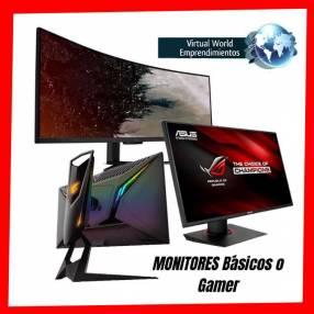 Monitores básicos o gamer