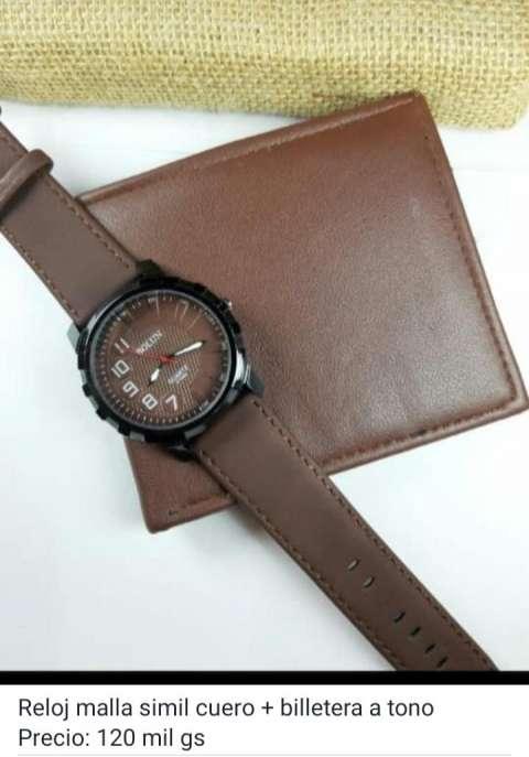 Billetera más reloj