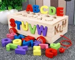 Cajas de letras de madera 26 piezas