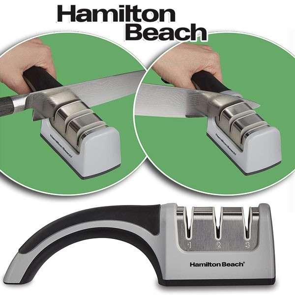 Corta con Facilidad con Afilador de cuchillos Hamilton Beach - 0