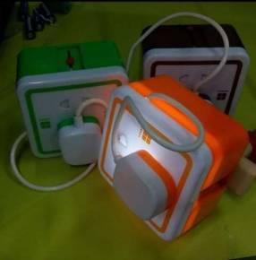 Velador de noche carga en enchufe con batería recargable