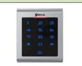 Control de acceso por tarjeta o código para apertura puerta