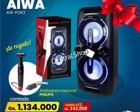 Sistema de Audio AIWA + afeitadora corporal Philips