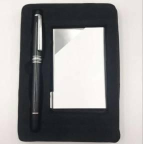 Kit de bolígrafo con tarjetero