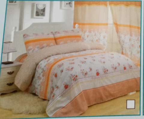 Combo edredón juego de sábanas y cortina