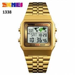 Reloj Skmei digital sumergible vintage SKM1338