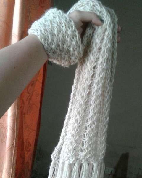 Bufanda hecha a crochet
