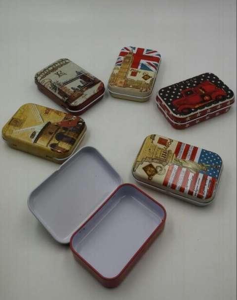 Kit de 3 piezas de cajitas de metal varios diseños - 0