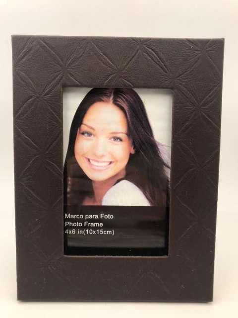 Porta retrato en cuerina 10x15 cm - 2