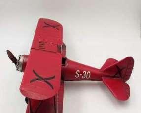 Avioneta en miniatura para adorno