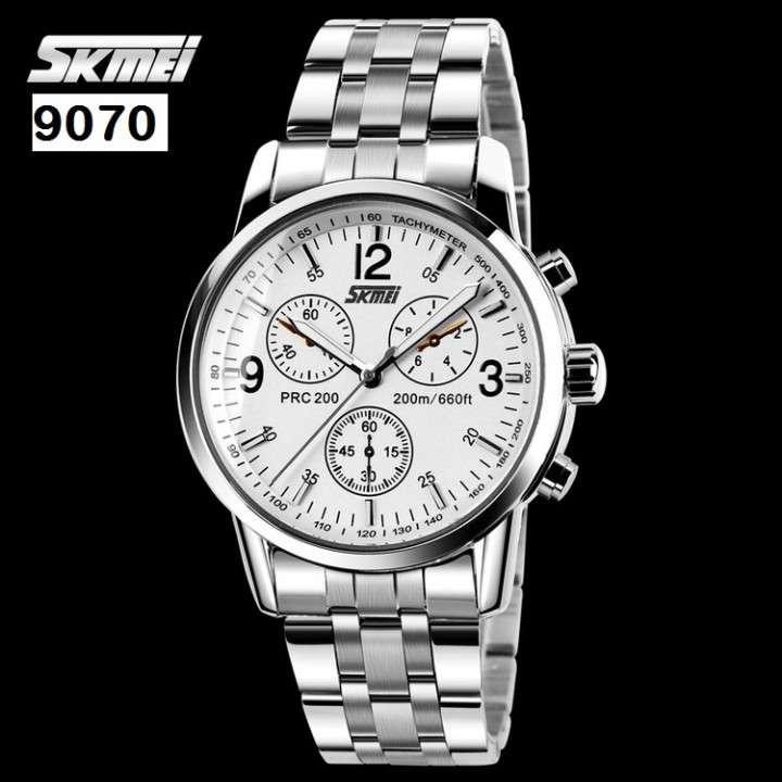 Reloj Skmei analógico malla de metal SKM9070 - 2