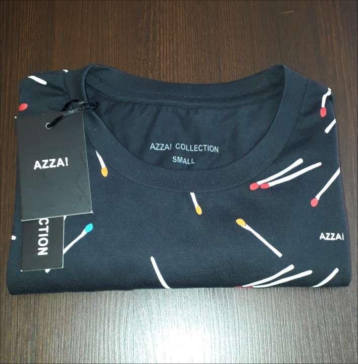 Remera azza collection masculino negro estampado talla s - 3