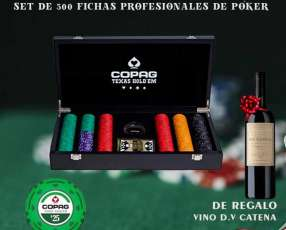 Fichas profesionales de póker Copag