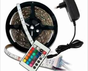 Cinta luz led tira 5m rgb con control