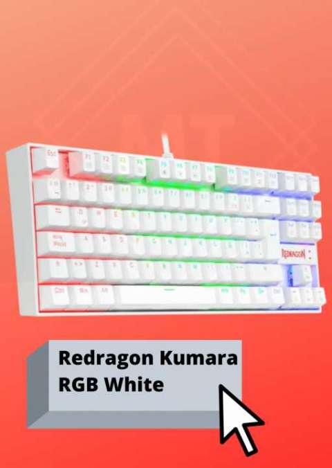 Teclado Redragon Kumara RGB White