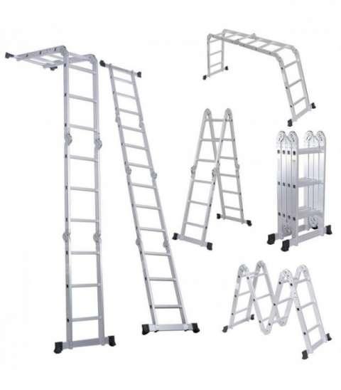 Escalera articulada multripropósito 3.70 m p/ andamios