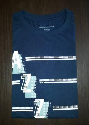 Remera azza collection masculino azul estampado talla M