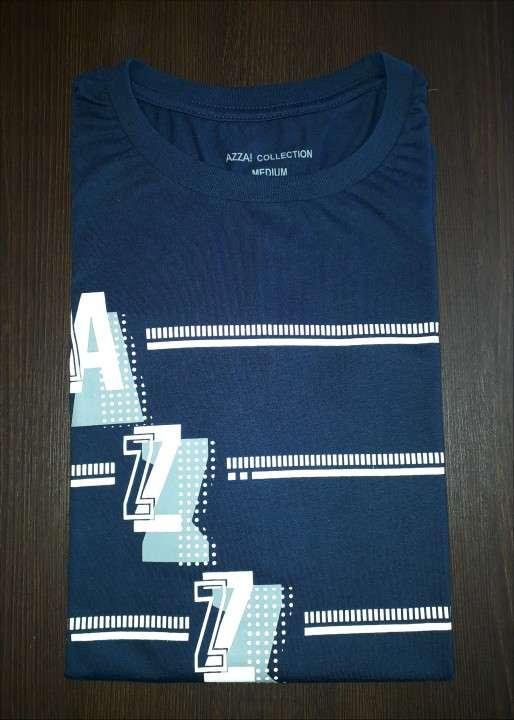 Remera azza collection masculino azul estampado talla M - 0