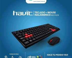 Kit teclado y mouse inalámbrico Havit